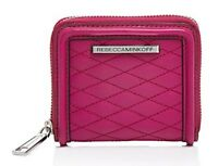 Rebecca Minkoff Quilted Love Small AVA ZIP Compact WALLET Leather
