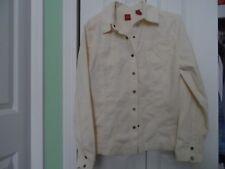 Woman's size Medium Off White Small Wale Corduroy Shirt Light Jacket