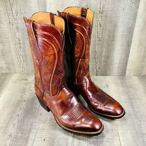 VINTAGE SAN ANTONIO LUCCHESE WESTERN BOOTS MADE IN USA MEN'S 9.5 D EXCELLENT