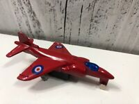 Vintage High Speed Die-cas Red Jet Fighter Airplane Toy Model 1:64 USA Good Shap