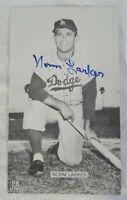 LA DODGERS NORM LARKER MLB BASEBALL AUTOGRAPHED HAND SIGNED PHOTO VINTAGE SPORTS