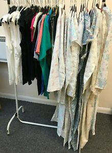 Job Lot of 50 Ladies Vintage Tops & Nightwear. Most with Original shop Labels