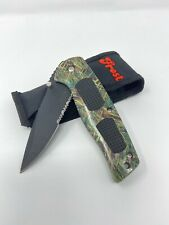 Frost Cultury Delta Ranger Camo New In Box Folding Knife With Clip And Pouch