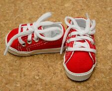 Doll Shoes 63mm RED Sneakers by Monique Gold (with White accent lining)