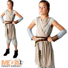Deluxe Rey Girls Fancy Dress Disney Star Wars The Force Awakens Kid Teen Costume