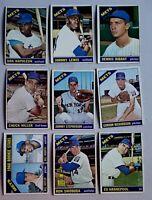 Lot of 9 1966 Topps New York METS vintage baseball cards, Ed Kranepool, SWOBODA