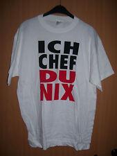 Fun Shirt Ich Chef, Du nix Geschenk Geburtstag Partygag weiss weiß XL neu