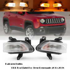 DRL Fog Light For Jeep Renegade 2015 16 17 2018 Daytime Running Turn Signal Pair