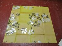 """Vintage Rubbery Floral Tablecloth ? 30"""" x 30"""""""