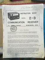 DRAKE 2-B, 2-BQ, 2-AC RECEIVER MANUALS, 38 PAGES, DIAGRAMS, CALIBRATION tube 2B