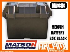 MATSON MA98116 -  MEDIUM BATTERY BOX BLACK - TIE DOWN STRAP MOUNTING HARDWARE