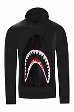 NEW Men Hoodie Shark Teeth Eyes Long Sleeve Sweater ALL SIZES RED BLACK WHITE