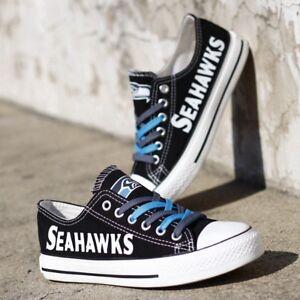 SEATTLE SEAHAWKS Women's Men's Shoes Sneakers Football Team Fans NEW Designs