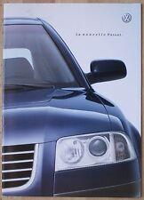 Rare Catalogue La Nouvelle Volkswagen Passat (yc V5 V6) - France - Nov 2000 -68p