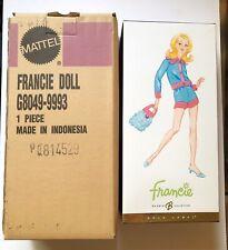 Smashin' Satin Francie Doll. Collector Gold Label  w/original Shipper.G8049 MINT