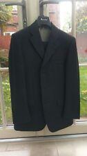 men's aquascutum charcoal grey all wool suit