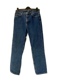 Cos, Jeans, Straight Leg, Mid Rise, Ankle Length, Blue, Size 29