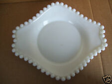 "Rare Vintage White 8.5"" X 7.5"" All Purpose Candy Pin Jewel Snack Dish."
