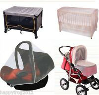 MOSQUITO NET for BABY INFANT TOURISTIC PORTABLE BED COT or  CAR SEAT WOMAR