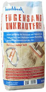 (1,00€/1kg) Buschbeck Fugensand Unkrautfrei NATUR HELL 20kg-Sack