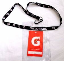 Black Gatorade Lanyard With Key Clip and ID Pouch