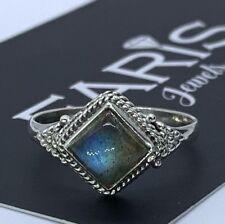 Designer 925 Stamped Sterling Silver Ladies Labradorite Ring Gemstone Jewellery