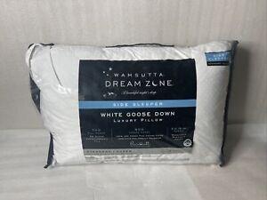 NEW Standard Queen Wamsutta Collection White Down Side Sleeper Pillow