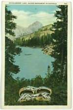 Postcard Huckleberry Lake Fish Basket Saches Monument In Distance California CA