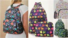 FOLDABLE RUCKSACK BACKPACK BAG WATERPROOF Lots of Fabulous Designs ECO CHIC