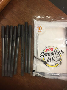 10x 10pks PaperMate Black Ball Point Ink Pens 1mm Smoother Ink EAGLE writing pin