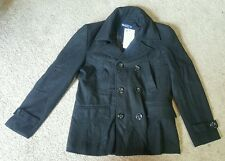 Doublju Wool blend pea coat/Jacket, Sz. XS, Black