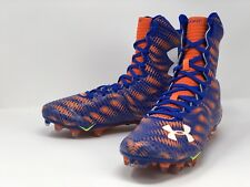 Under Armour Highlight MC Football Cleats Blue Orange UA 1258400-401 Size 8