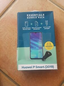 Essentials Bundle Huawei P Smart (2019) , Case, Screen Protector, Car Charger