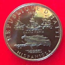HAITI 5 GOURDES SILVER COIN 1970 IC