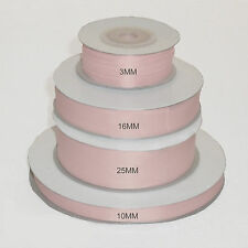 Full Roll 25mx25mm Double Faced Satin Ribbon All Colours Baby Pink