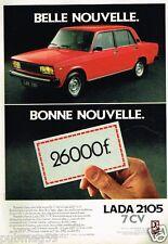 Publicité advertising 1981 Lada 2105