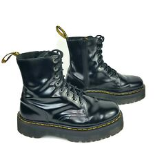 DR MARTENS VB1B99Z RED LEATHER 14 EYE SIDE ZIP MOTORCYCLE COMBAT BOOTS UK 3 NOS