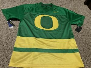 "Nike Oregon Ducks Throwback Jersey 'O"" Green/Yellow Men's Size: Large NWT"
