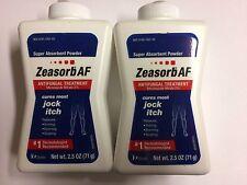 Zeasorb-AF  Antifungal Treatment Powder for Jock Itch 2.5 oz  (Two Bottles)