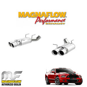 """MAGNAFLOW 3"""" Axle Back Dual Exhaust System 2013-2014 Ford Mustang Shelby 5.8L V8"""