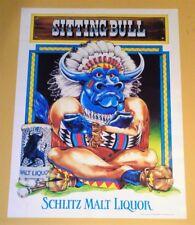 6 Schlitz Malt Liquor - Sitting Bull Posters - 1984