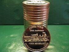 "20 Civil War ""The General"" 1oz .999 Copper Rounds Civil War Collection"