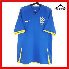Nike Brasil Football Shirt L Large Soccer Jersey Blue Away Brazil DryFIT 2008