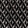 LUNN FABRICS EXCLUSIVE BLACK & WHITE BATIK COTTON FABRIC YARD DIAMOND SPLIT