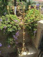 Giant Seven Branches Menorah 32 Inches Brass Copper Jerusalem Temple Menorah