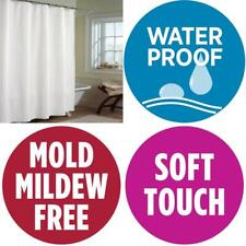 """Soft Waterproof Quality Shower Curtain Liner Free PVC/Mold 72"""" x 72 WHITE"""