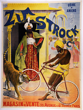 Zim Strock Original Vintage Bicycle Poster