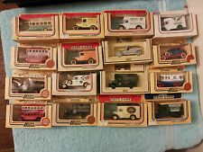 LLEDO DAYS GONE. COLLECTIONS OF 16 VANS-BUSES-CARS. EARLY MODELS, EX DISPLAY (2)
