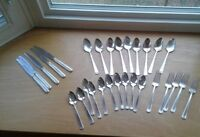 Vintage Viceroy One 1936 Silver Plate Flatware 29 PC Forks, Spoons, Knives USA