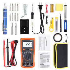 Soldering Iron Kit Digital Multimeter Great For Home Diy Welding Circuit Board